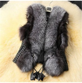 Vegan Fur Women Vest Up To 6 Xl