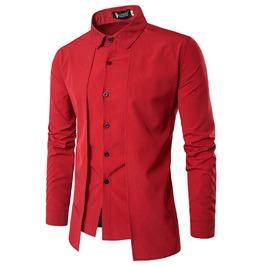 Irregular Long Sleeve Men Shirt