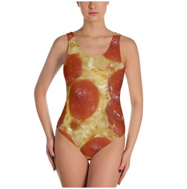 Pepperoni Pizza Swimsuit Hipster Swimwear One Piece Swimsuit