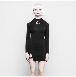 Women's Punk Sheath Cold Shoulder Dress