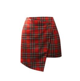 Pretty Disturbia Handmade Punk Grunge Rock Wrap Tartan Skirt