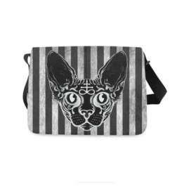 Black Cat Messenger Bag