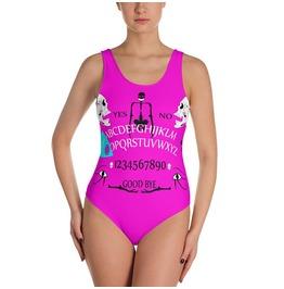 Pink Ouija Swimsuit Gothic Swimwear One Piece Swimsuit