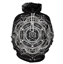 Mandala Sacred Geometry Hoodie Sweatshirt Women Men Pullover