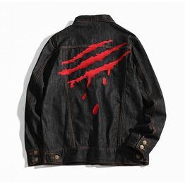 Bloody Black Jeans Denim Men Jacket Up To 5 Xl