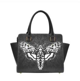 Death Head Moth Handbag With Shoulder Strap