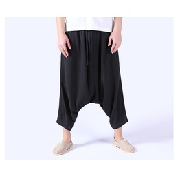 Linen Plus Size Nepal Style Loose Men Harem Pants