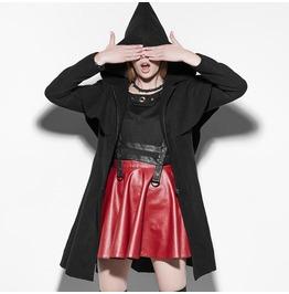 Punk Black Elf Hood Jacket For Women