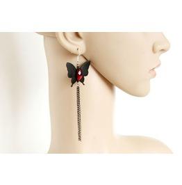 Handmade Butterfly Tassel Lace Earrings
