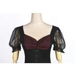Gothic Black And Red Lolita Style Chiffon And Lace Top For Women