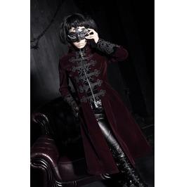 Gothic Black Velvet Victorian Style Long Sleeves Coat For Men
