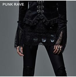 Gothic Black Hollowout Mini Skirt For Women