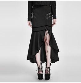 88fc1ea1aeb Gothic Black Military Uniform Fishtail Skirt For Women