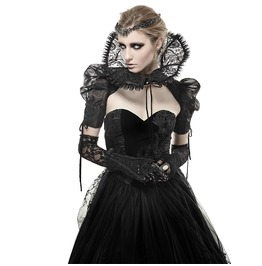 Gothic Black Victorian Style Adjustable Floral Pattern Hands And Feet Gloves For Women