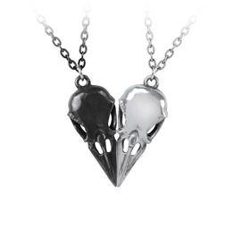 Gothic Coeur Crane Pendant