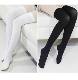 5d817866cf3 Dark Forest Over Knee Goth Harajuku Spandex Long Women Socks