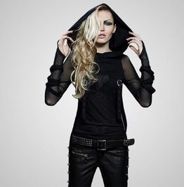 Punk rave high end fashion trendy street punk t shirts with big hoodie hoodies and sweatshirts