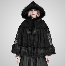 Lolita Style Warm Gothic Coat Woolen And Lace Fabric Cloak