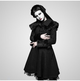 Lolita Style Wool Gothic Coat With Large Lapels And Cuffs