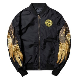 Urban Men's Golden Wing Bomber Jacket