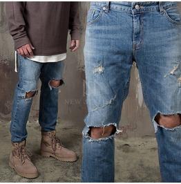 Distressed Ripped Knee Slim Jeans 362