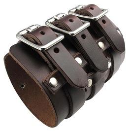 Punk Rock Men's Leather Bangle Cuff Bracelet