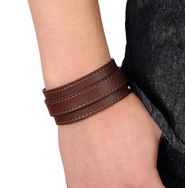 Retro Men's Wide Cuff Leather Bracelet