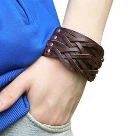 Punk Gothic Mens Stud Goth Studded Faux Leather Bracelet Cuff Wristband OSFM