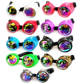 Cryoflesh Kaleidoscope Crystal Lens Trippy Club Wear Festival Goggles