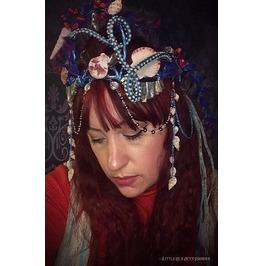 Mermaid Crown, Mermaid Costume, Sea Jewelry, Mermaid Tiara, Beach Themed
