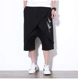 Punk Summer Large Size 5xl Harem Embroidered Men Shorts Pants