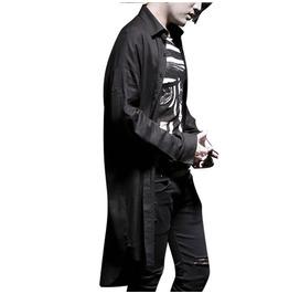 Dark Forest Cotton Linen Sunscreen Long Sleeve Mens Cardigan Shirt