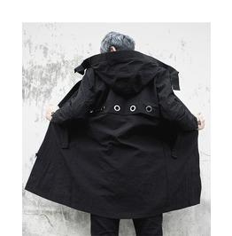 Dark Forest Hooded Coat Trench Coat Mens