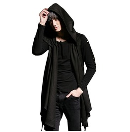 Punk Gothic Sleeveless Hooded Mens Vest Coat Jacket
