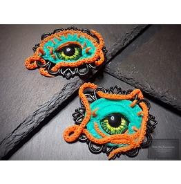 Evil Eye Brooch, Octopus Jewelry, Sea Monster Pin, Kraken Cthulhu Jewelry