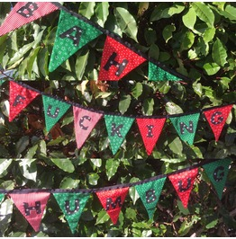 Offensive Christmas Bunting, Adult Joke Party Garland, Rude Fabric Bunting