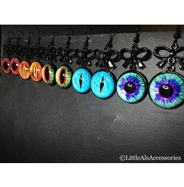 Evil Eye Earrings, Eyeballs, Creepy Eyeball Earrings, Gothic Jewelry Gifts