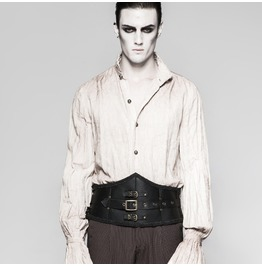 Steampunk Black Leather Multi Belted Girdle For Men