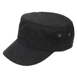 Solid Black Military Hat Men Field Flat Caps New Brand Captain Sailor Hats
