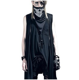 Punk Rock Goth Men Shawl Vest