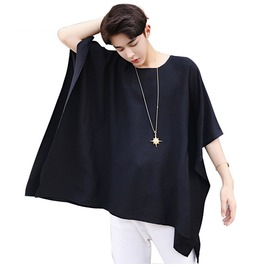 Oversize Men's Super Loose Short Sleeve T Shirt Solid Color Black White