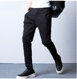 Slim Fit Casual Zipper Punk Men Harem Pants