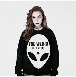 Too Weird To Be Weird Sweater