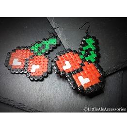 Cherry Jewelry, Video Gamer, Cherry Earrings, Pacman Earrings, Retro Gaming
