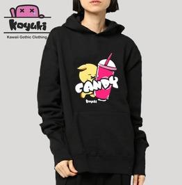 Candy By Koyuki Original Design Kawaii Harajuku Japan Black Hoodie
