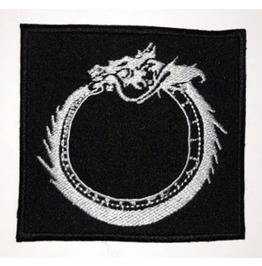 Esoteric, Chinese Ouroborus, Embroidered Patch, 3,2 X 3,2 Inch