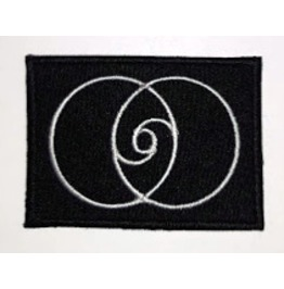 Esoteric, Vesica Piscis, 96 Numbers , Embroidered Patch, 2,8 X 2 Inch