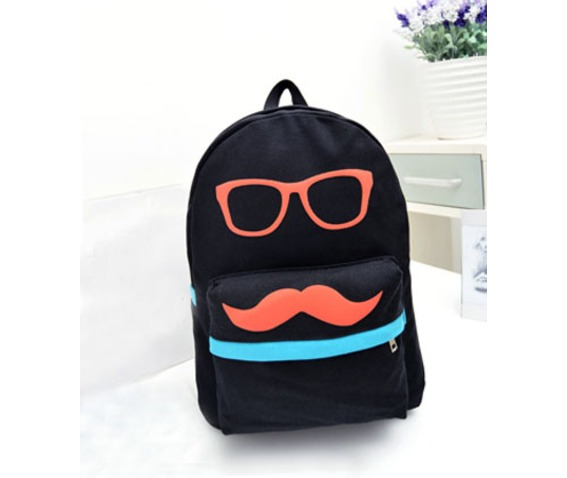 cartoon_black_mustache_green_canvas_backpack_bag_messenger_bags_2.jpg