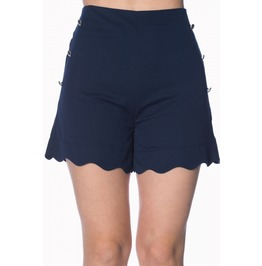 Banned Apparel Sally Scalloped Navy Short
