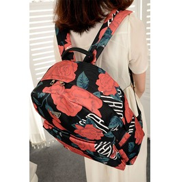 Retro Casual Floral Backpack Women